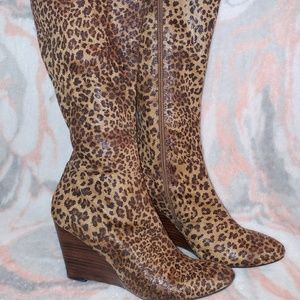 "Impo Stretch ""Tavern"" Leopard Wedge Boots"