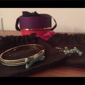 kate spade bow bracelet & earring set