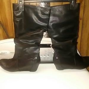 Wedge slouch boots