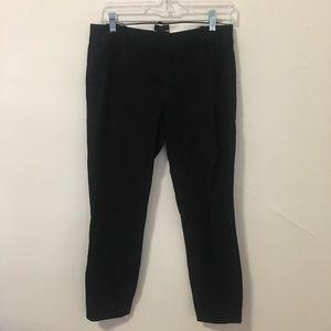 J. Crew Black Stretch Minnie Slim Ankle Pant