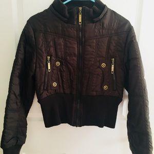 Adorable Brown Bomber Jacket (comes w/ fur hood)