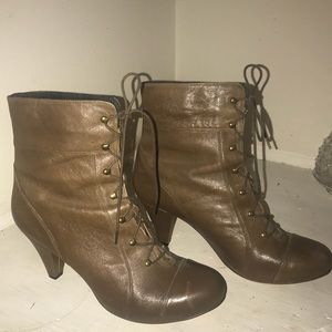 """Lace Up """"Granny"""" Style Boots.  Like New!"""