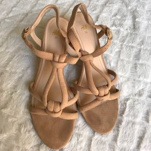 H&M nude strappy shoes