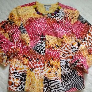 Mishca printed jacket size large