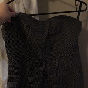 Silence and noise sz6 black check strapless dress
