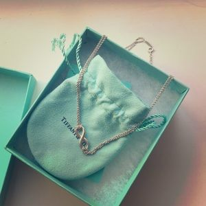 Tiffany infinity pendant in sterling silver