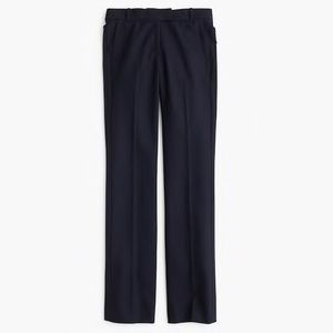 J Crew black Campbell pant in wool blend