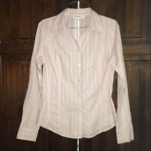 Calvin Klein light pink button down shirt sz small