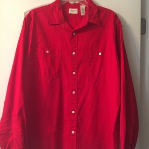 Red Dockers Button Down Shirt