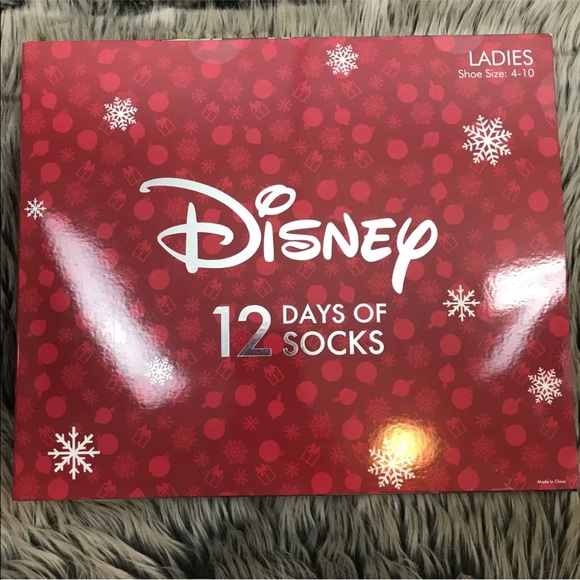 disney 12 days of socks advent calendar sealed - Disney 12 Days Of Christmas