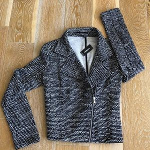 *CUTE* Fabric Moto Jacket with Corset Seaming NWT