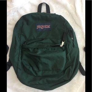Hunter Green Jansport Backpack