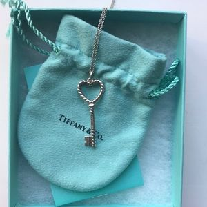 Tiffany and Co: key open heart necklace