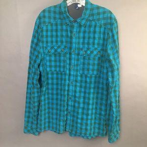 DIVIDED by H&M Men's Plaid Shirt Size Medium