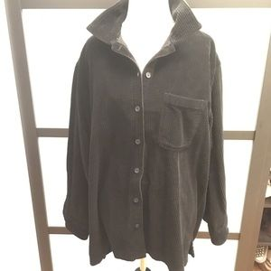 L.L. Bean Big Shirt Comfort Corduroy Button 1X