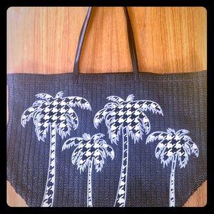 Vera Bradley lge straw palm tree tote - NWOT!