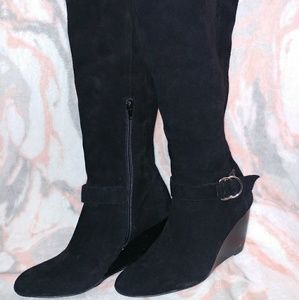 BCBGeneration Black Suede Boots