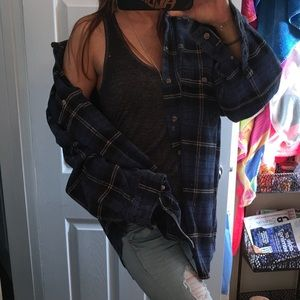 blue black boyfriend flannel