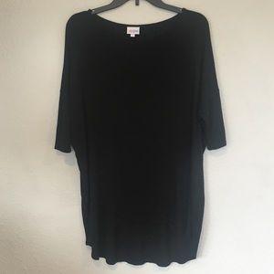 LuLaRoe Ribbed Solid Black Irma Size XS