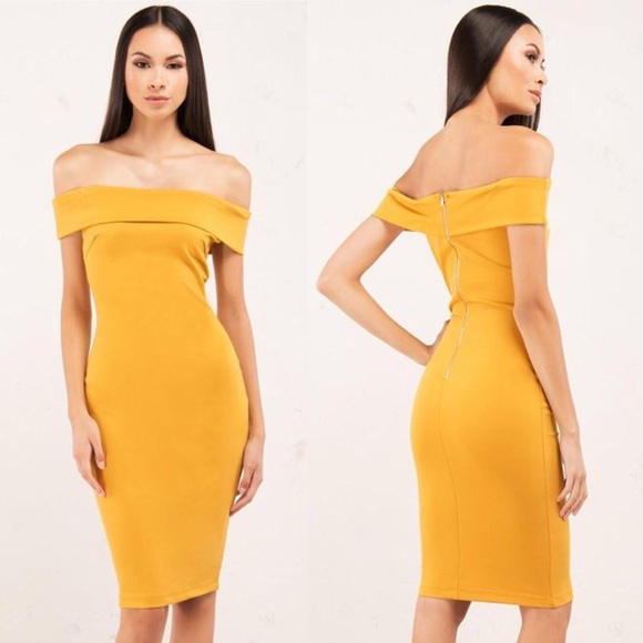 bf5909dd6e967 Yellow mustard off the shoulder dress. M_5a1089892ba50ac3f102bbf4