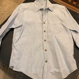 Men's linen button down shirt