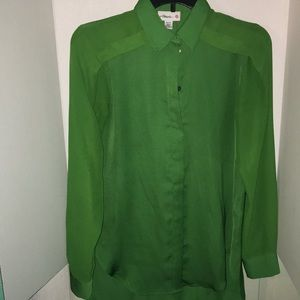 3.1 Phillip Lim for Target Green Shirt Size Xs