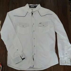 Wrangler L western-style shirt