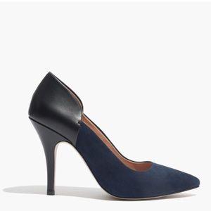 Madewell Maddie Heel Navy Black Leather