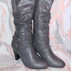 "Rampage ""Ellerson"" Grey Knee-High Boots"