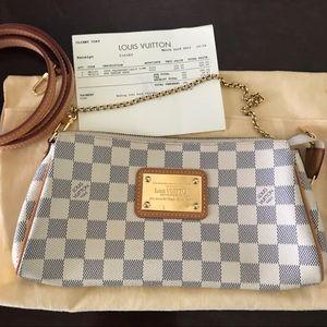 Louis Vuitton Eva Damier Azur cross body bag