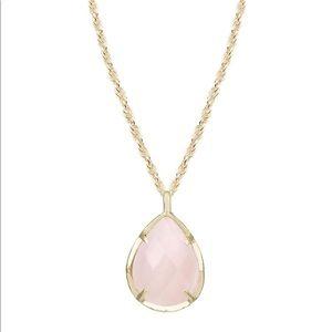 Kendra Kiri pink quartz necklace