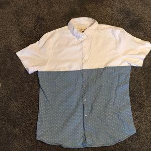 Two-tone Button Shirt