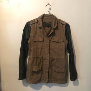 Stussy Millitary Jacket w/ Leather Sleeves