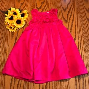 Carters pink floral top dress. size 4t