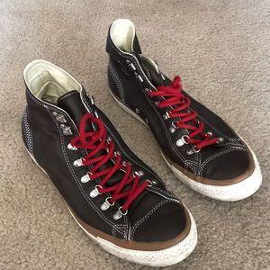 Dark brown leather converse men's size 11.5