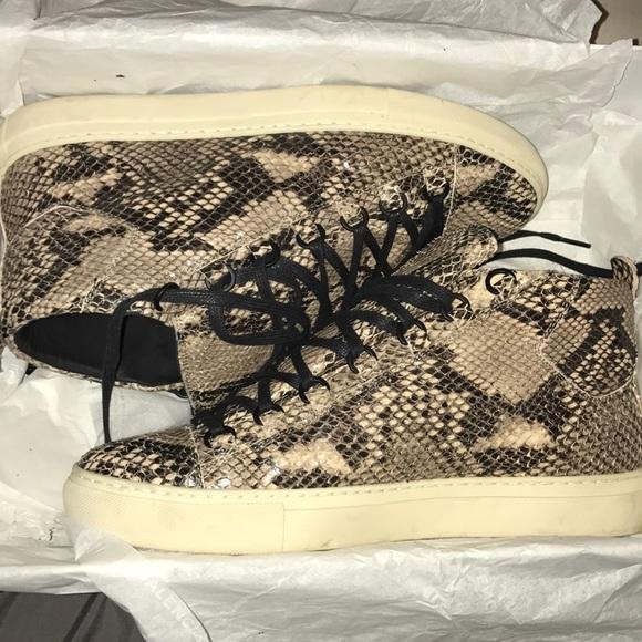 Mens Balenciaga Arena Shoes Snake Skin