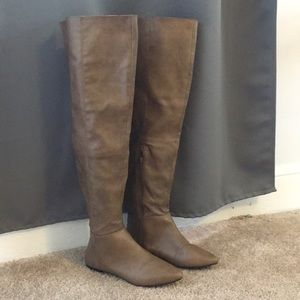 Over the Knee Vegan Leather Boots