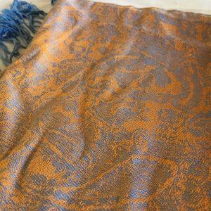Accessories - Pashmina- orange and blue