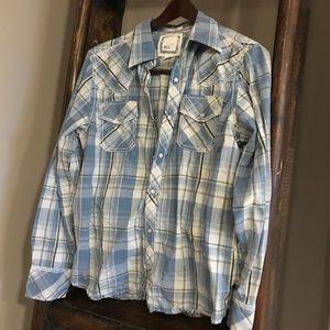 Men's BKE button down flannel Shirt - Slim Fit