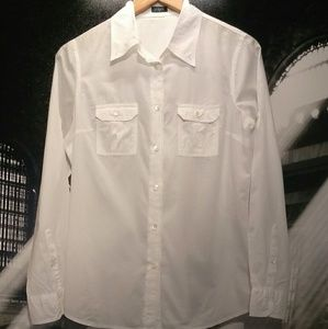 J. Crew Crip White Button Down Shirt