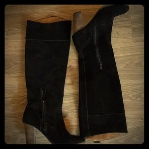 Dolce Vita leather suede black boots size 9.5