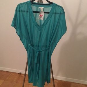 Mint Green Sheer Beach Cover Up