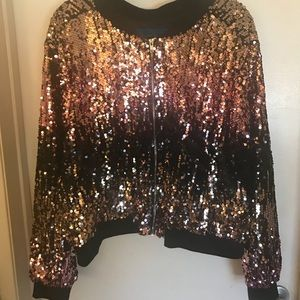 Forever21 Plus Sequins Light Weight Jacket