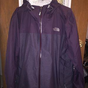The North Face Men's Raincoat in Purple XL