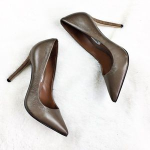 Steve Madden brown leather pointy heels 5 1/2 nwot