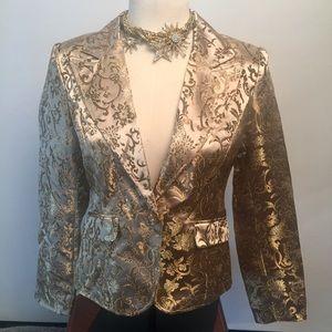 Dress barn golden blazer sz6
