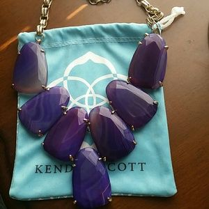 Kendra Scott Purple Agate Harlow