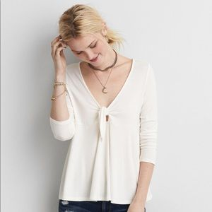 American Eagle Women's Soft & Sexy Tie-front Top
