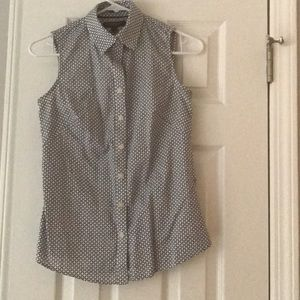 Banana Republic Sleeveless Button-Up Shirt