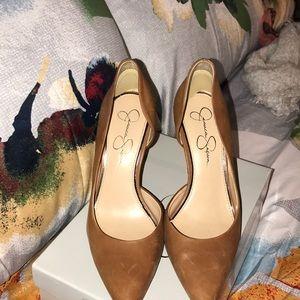 Jessica Simpson Claudette burnt amber heels